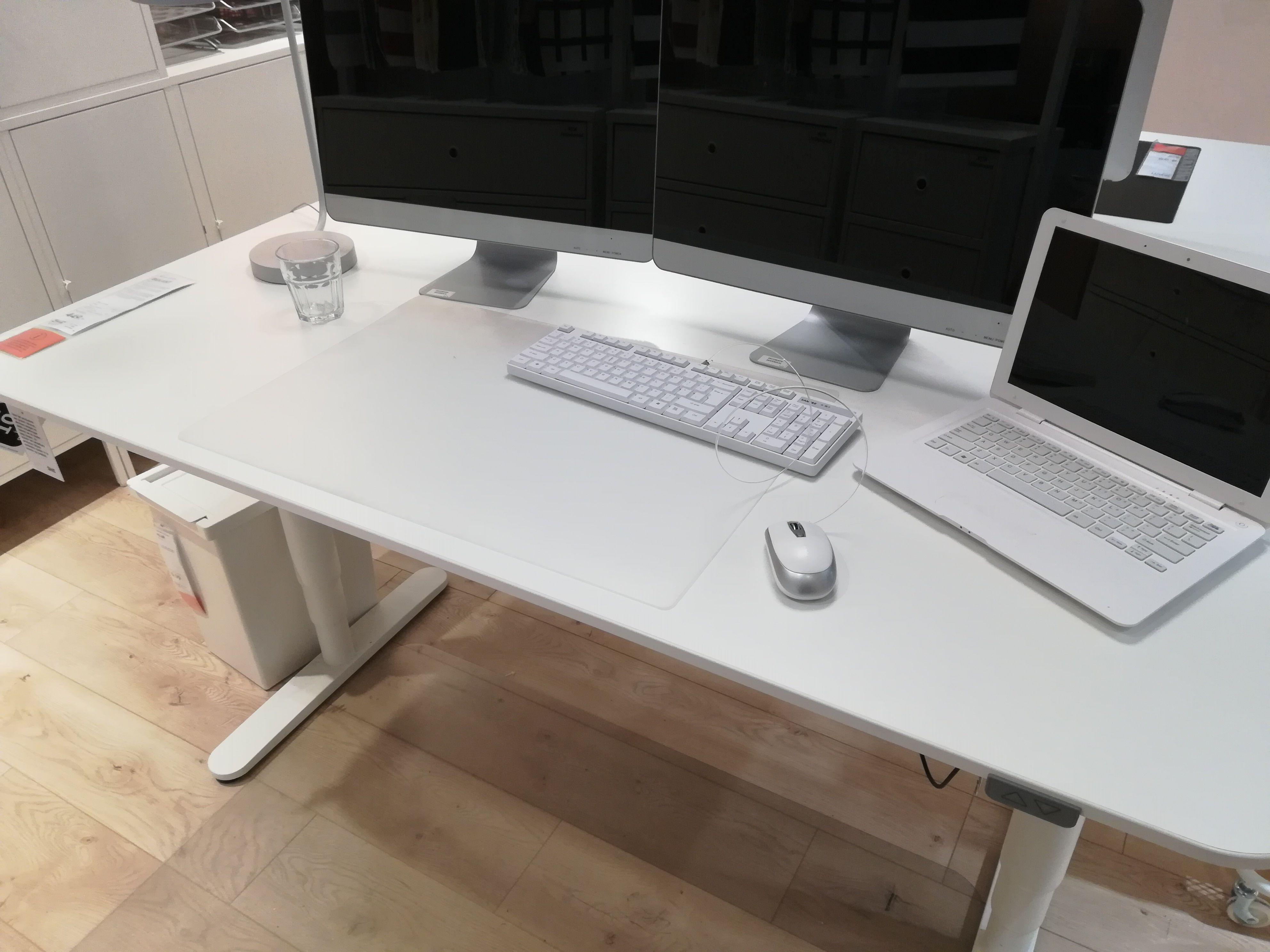 Bekant sta zit bureau wit 160 cm kantoor goudgeel in 2019
