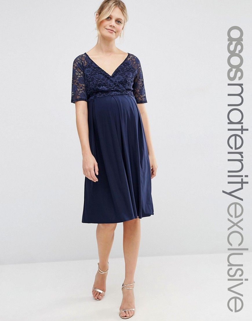 1aaa896993 ASOS+Maternity+NURSING+Lace+Midi+Dress