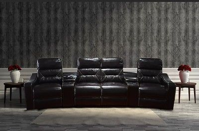 Peachy Details About Mcombo Home Theater Leather 4 Set Recliner Machost Co Dining Chair Design Ideas Machostcouk