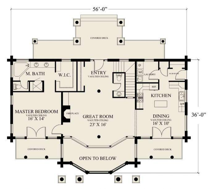 1200 Sq Ft Open Floor House Plans Google Search Open Floor House Plans New House Plans Craftsman House Plans
