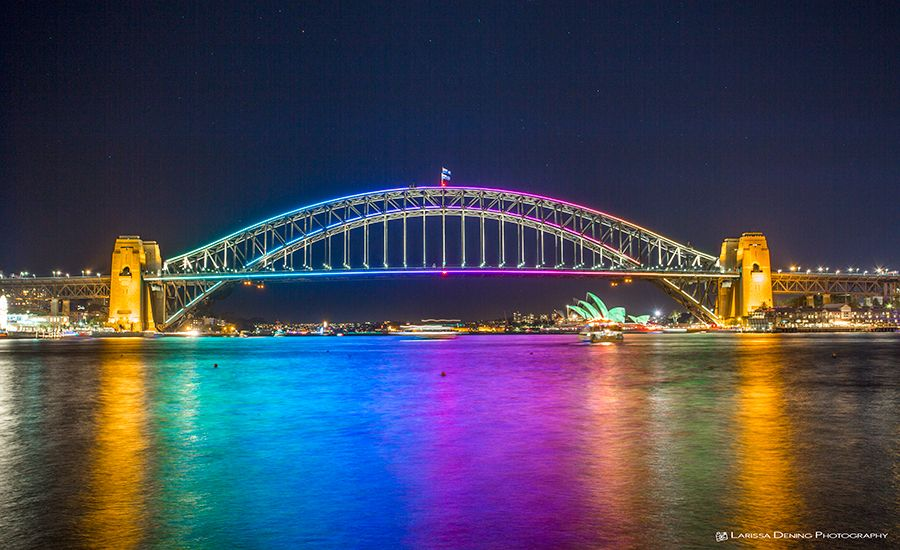 Vivid Festival from Blues Point, Sydney