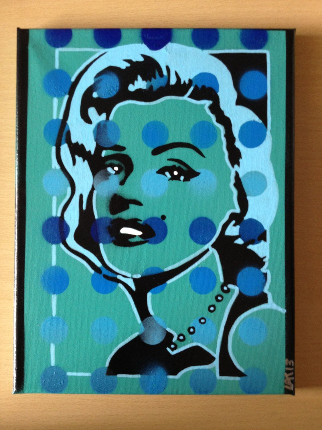 pop art painting of marilyn monroe on by AbstractGraffitiShop, $40.00