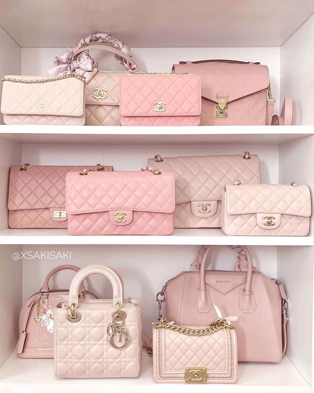 Chanel, Louis Vuitton And Dior Rose Bags