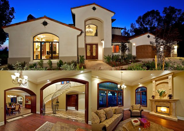 Mediterranean Home | Mediterranean House Plans From The House Designers  Note White Painted Wood Trim