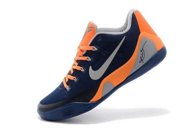 Mens Nike Kobe 9 Low EM Dark Blue Orange-Grey  8d09910c0d
