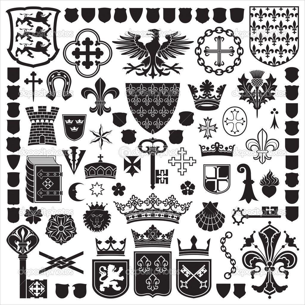 heraldry symbols and decorations stock vector biocorpaavc Gallery