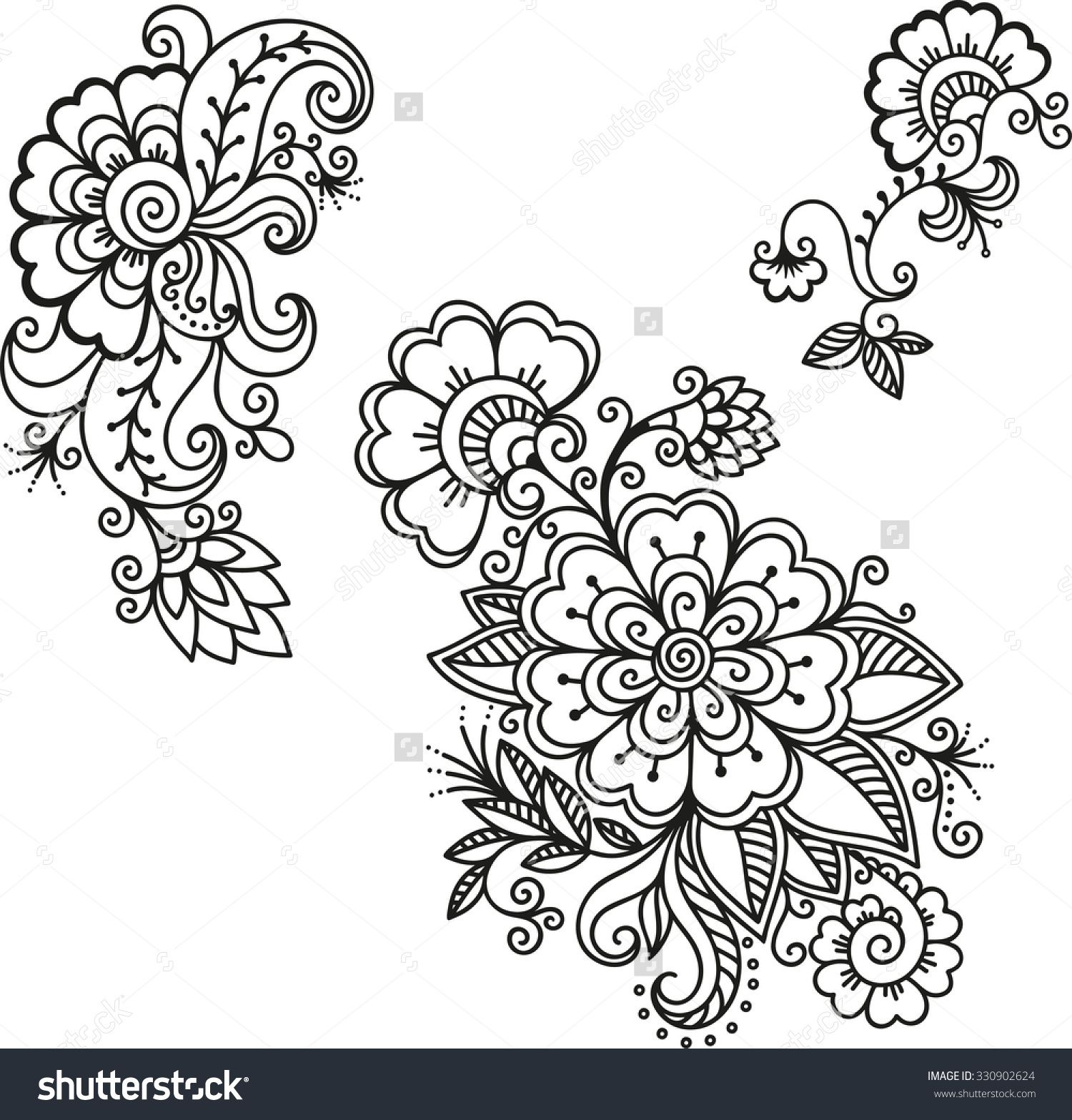 henna tattoo flower template mehndi mehndi pinterest. Black Bedroom Furniture Sets. Home Design Ideas