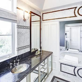 Mirrored Washstand Contemporary Bathroom Kelly Wearstler Hollywood Regency Bathroom Home