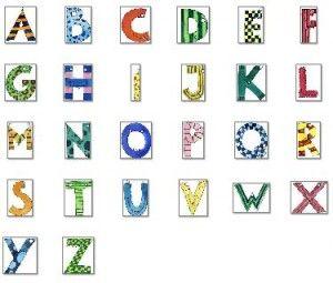 Einzelne Bunte Buchstaben Zum Ausdrucken Kostenlos Hylen
