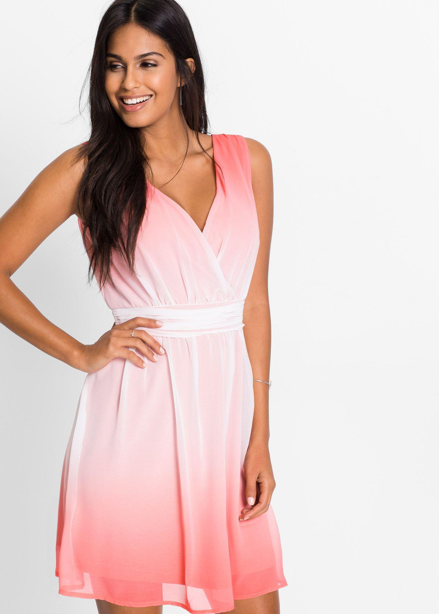 Wundervolles, feminines Kleid mit Farbverlauf. Ein Traum in Pink!