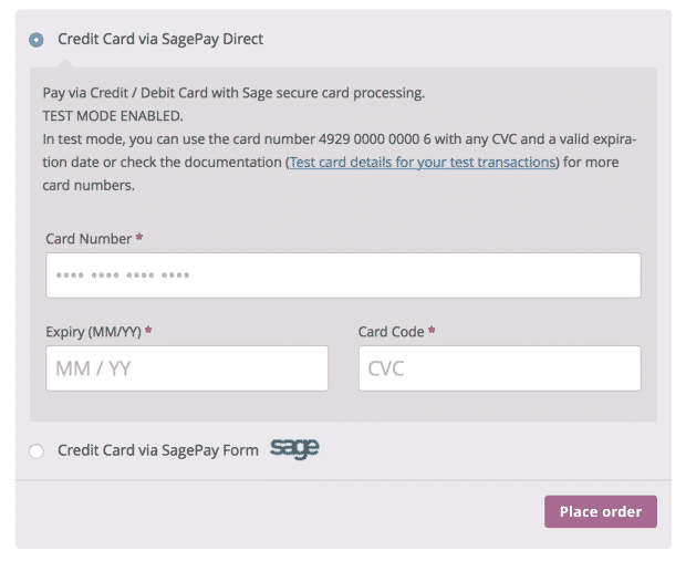 Sagepay Form Sagepay Direct  Extension For Woocommerce  Get
