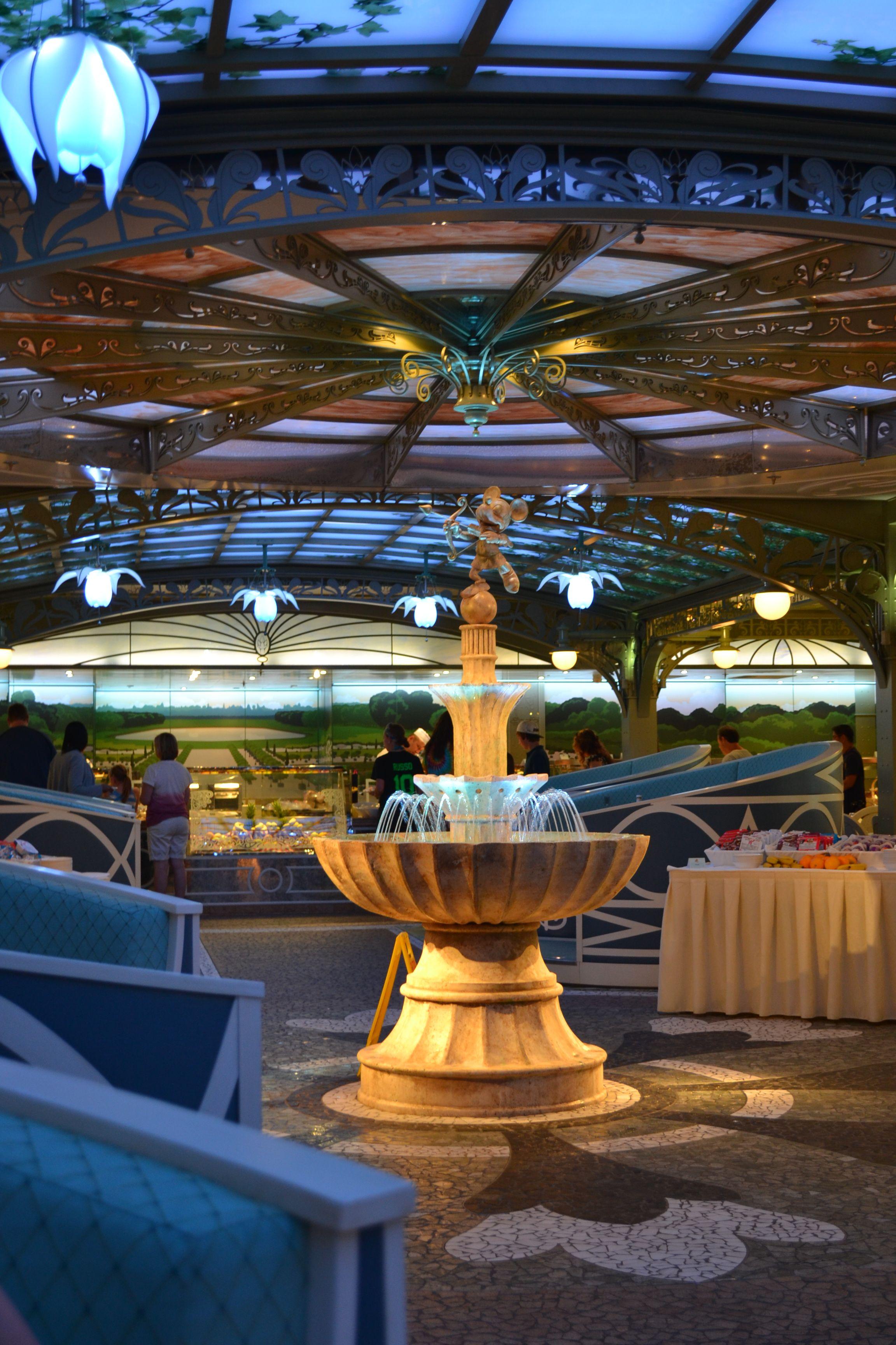Inside The Disney Magic Cruise Ship: Inside Enchanted Garden, Disney Dream Disney Cruise
