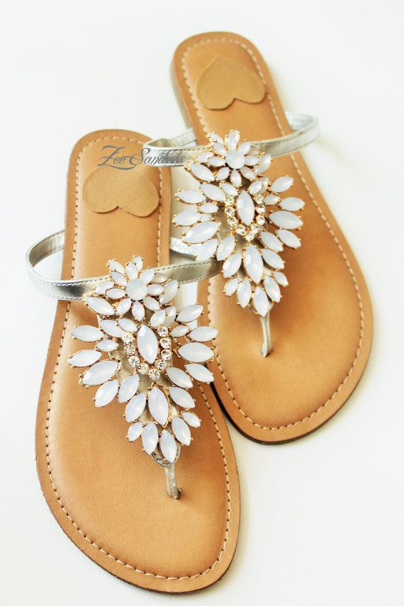 08656d8c08fc This etsy store has a variety of fancy sandals for beach weddings. Prices  are 40 to 60. Zee Sandals was born from a passion for