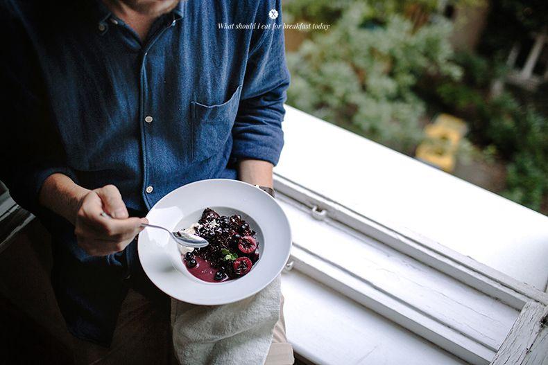 Cardamom infused black rice porridge / Marta Greber
