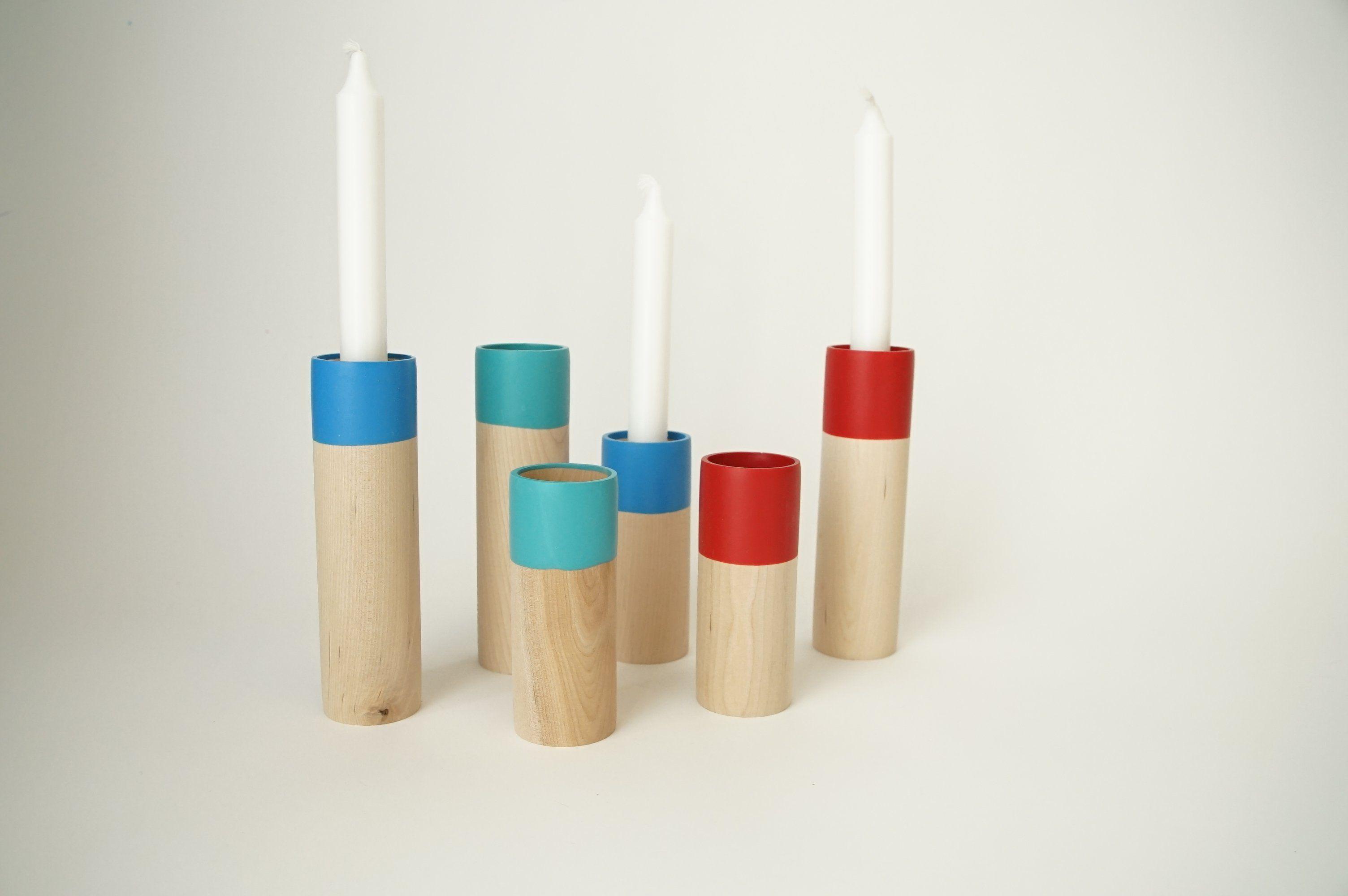 Cylinder taper candle holder set of pinterest modern candle