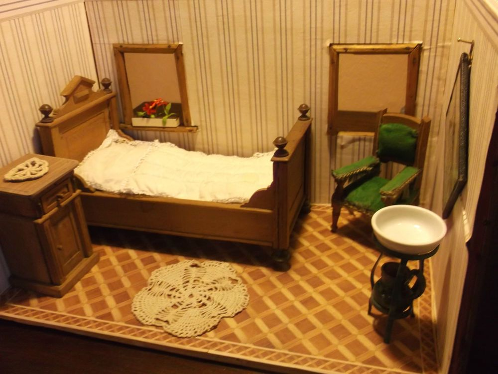 delightful schlafzimmer bilder um 1900 #1: Wunderschöne,alte Gründerzeit Stube,Schlafzimmer,Puppenstube um 1900