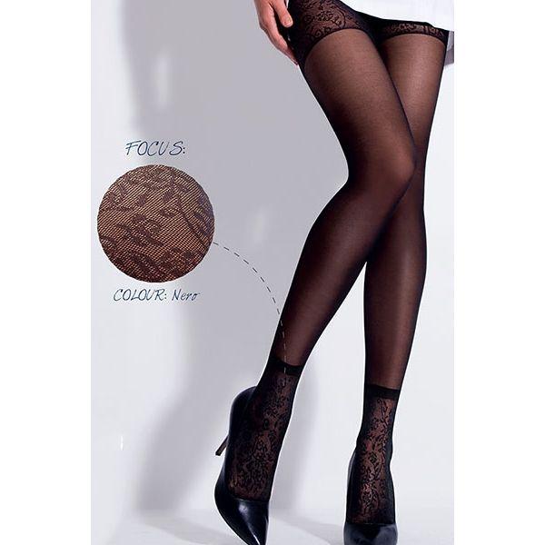 f4b2890df98 Jessi 30 DEN дамски фигурален чорапогащник, имитира къси чорапи малко над  глезена и къси