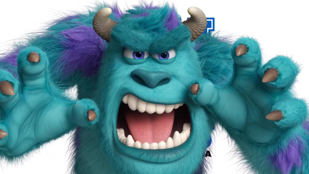 Kitty Cute Model Lovely Blue Purple Scare Horns Pose Eddy Sully Monster Inc Monsters Inc Characters Sulley Monsters Inc Disney Monsters