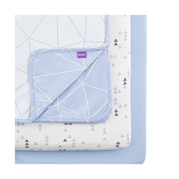 paquete de 2,/Breeze Geo S/ábanas Snuz ajustables para cuna