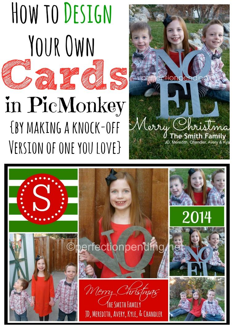 How to Create Your Own Christmas Card in PicMonkey Tutorials