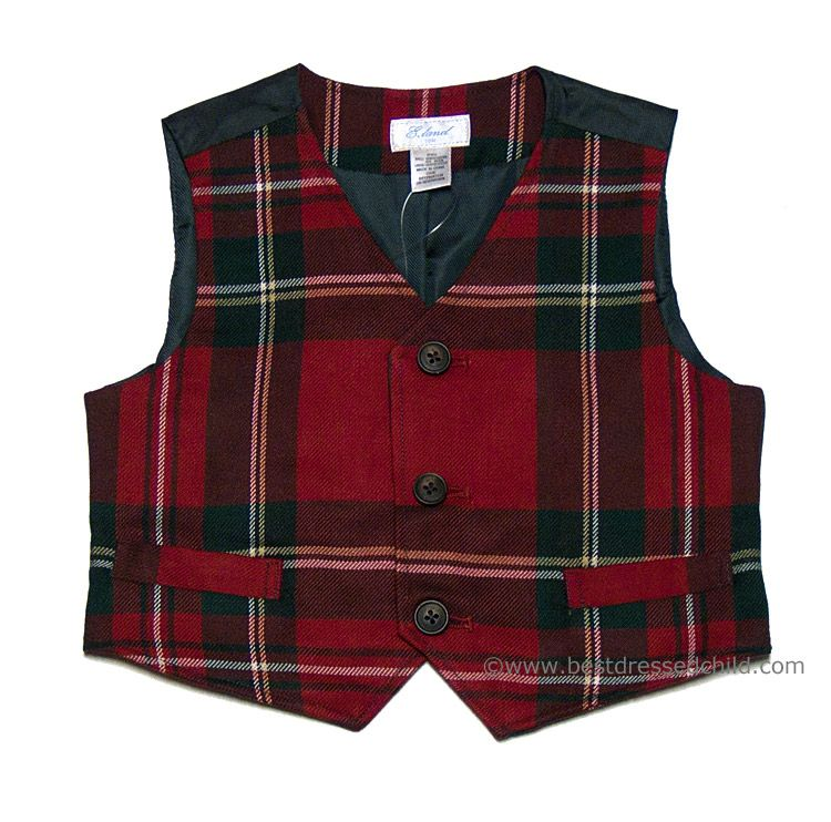 c0e05ce7e E Land Kids Boys Christmas Red Holiday Tartan Plaid Vest | christmas ...