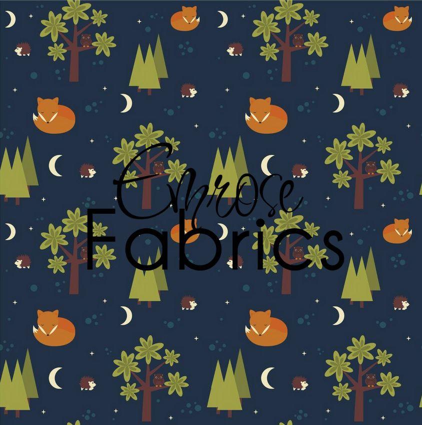 Emrose Fabrics Foxy Night Organic Cotton Knit