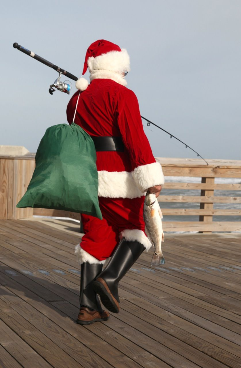 Fishing with santa and other outer banks fishing things to for Outer banks fly fishing