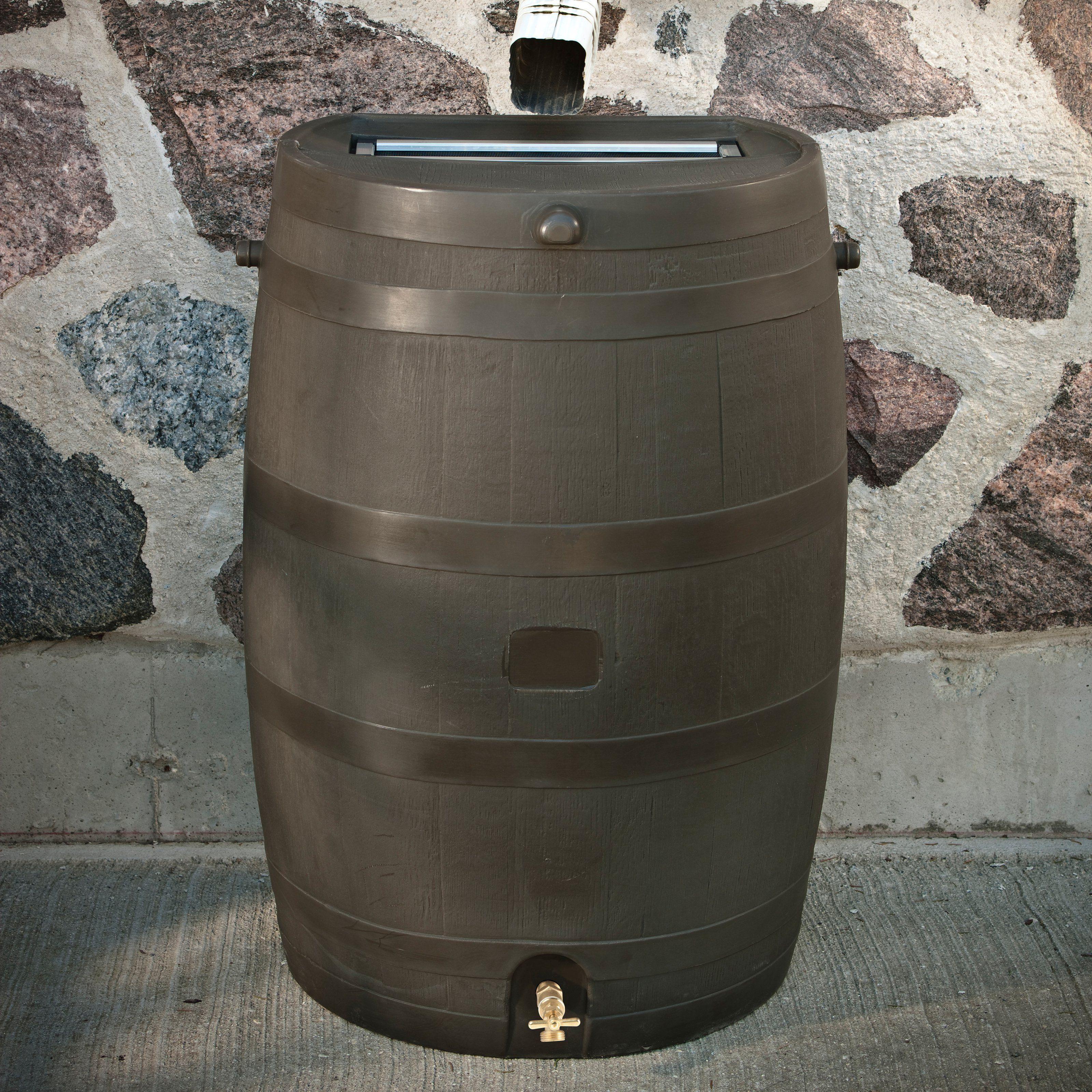 Rts Flat Back 50 Gallon Rain Barrel Rain Barrel Rain Water
