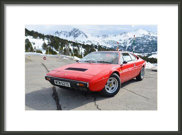 Ferrari Dino 308 Gt4 Framed Print By Aven  Dawson