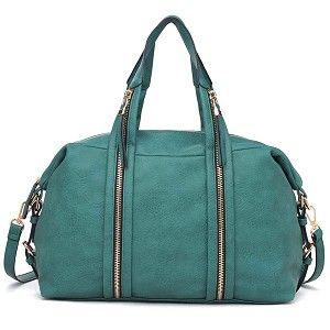 Urban Expressions Peoria Handbag Vegan Leather Tote bag Emerald