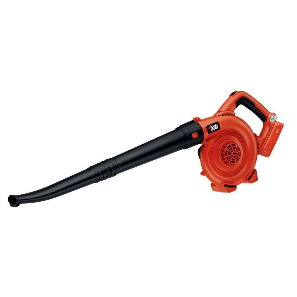 Black Decker 120 Mph 90 Cfm 40 Volt Max Lithium Ion Cordless Handheld Leaf Sweeper Tool Only Lsw36b Leaf Sweeper Leaf Blower Black