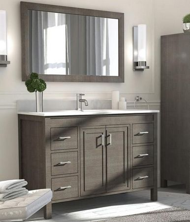 Converse 48 Inch Bathroom Vanity French Gray Finish With Images