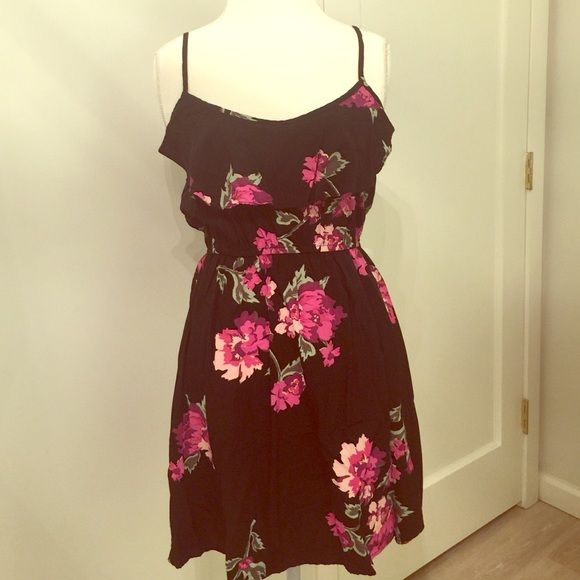 Cotton On Floral Dress Very pretty black summer dress with pink floral  print by Cotton On. Great condition fa5723562