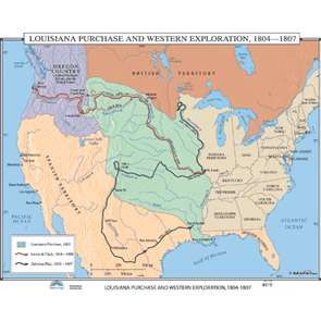 lewis and clarks 1804 1806 expedition from st louis in indiana territory through the louisiana purchase area and oregon country to the pacific