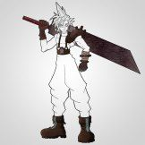 How To Draw Cloud Strife Textures 3