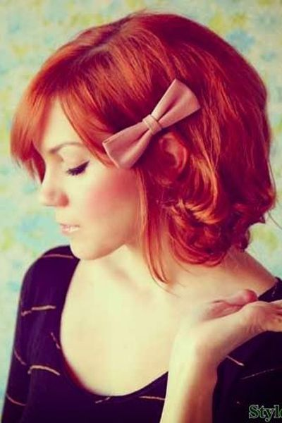 Stunning Holiday Hairstyles Straight From Pinterest Short Red Hair Holiday Hairstyles Long Hair Styles