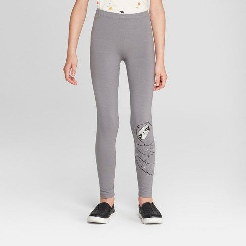 b5c00c206f685 Girls' Sloth Print Leggings - Cat & Jack™ Gray M : Target | to wear ...