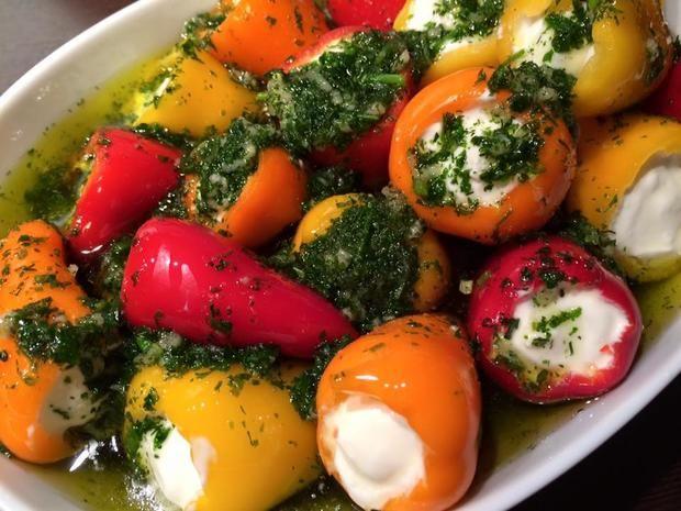 eingelegte Mini Paprika - Rezept mit Bild
