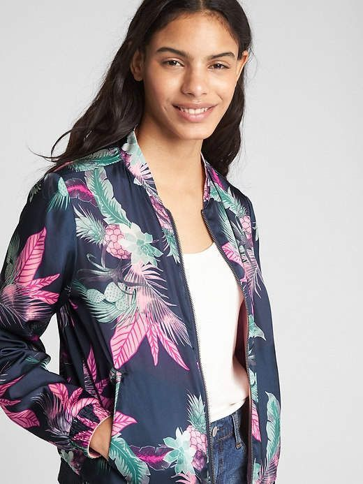 e4d85f34f9f Petite Reversible Floral Print Bomber Jacket in pink dust