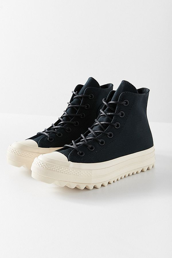 converse all star lift ripple hi baskets montantes noir