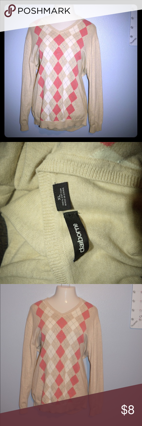 Claiborne XL Gently used, no flaws Sweaters