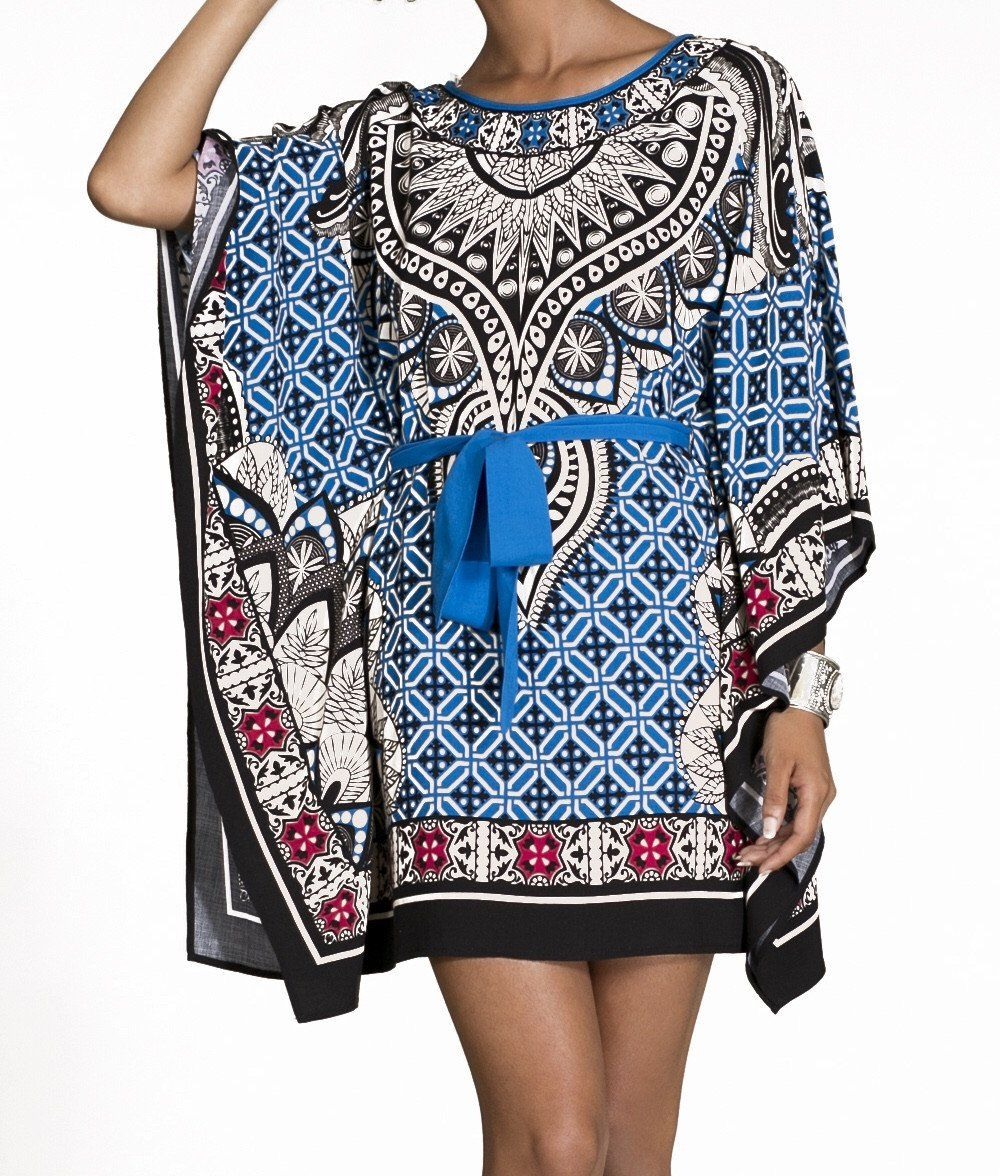 Tribal mini kaftan dress