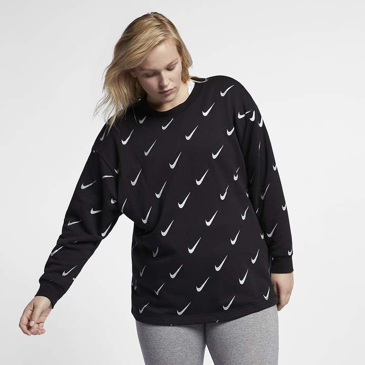 d0b4c4be42a9c Nike Sportswear Rally Women s Metallic Crew (Plus Size)