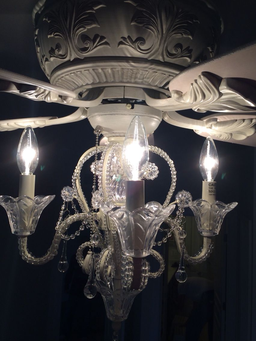 Best 25 ceiling fan with chandelier ideas on pinterest ceiling fan chandelier chandelier fan - Girl ceiling fans with chandelier ...
