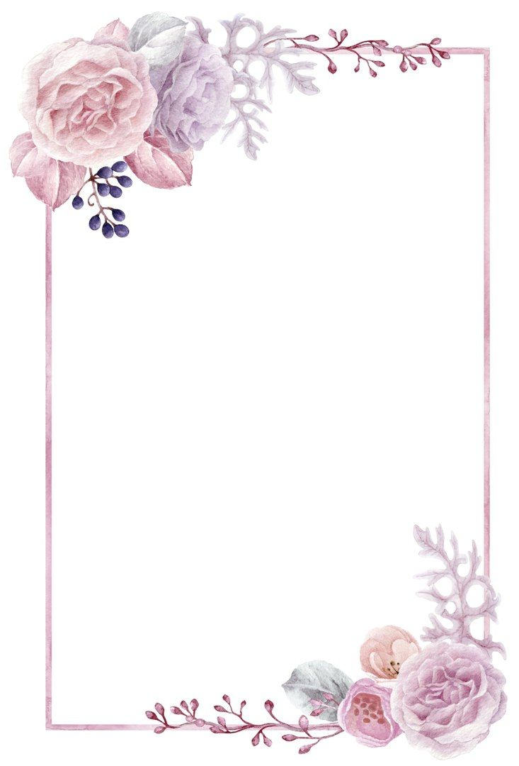 Sciana Kartu Bunga Pola Bunga Bingkai Bunga