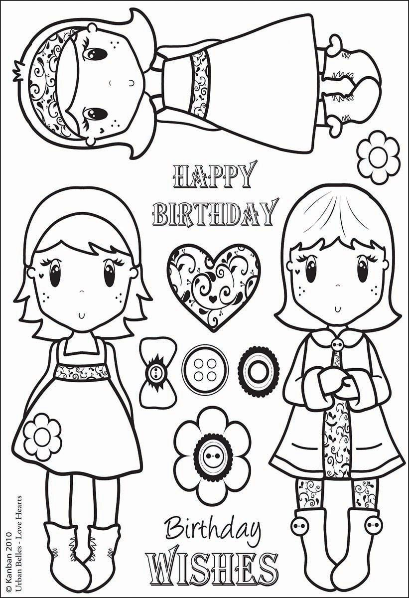 All About Her Clear Acrylic Stamps Urban Belles Love Hearts Kleurplaten Thema Stempelen