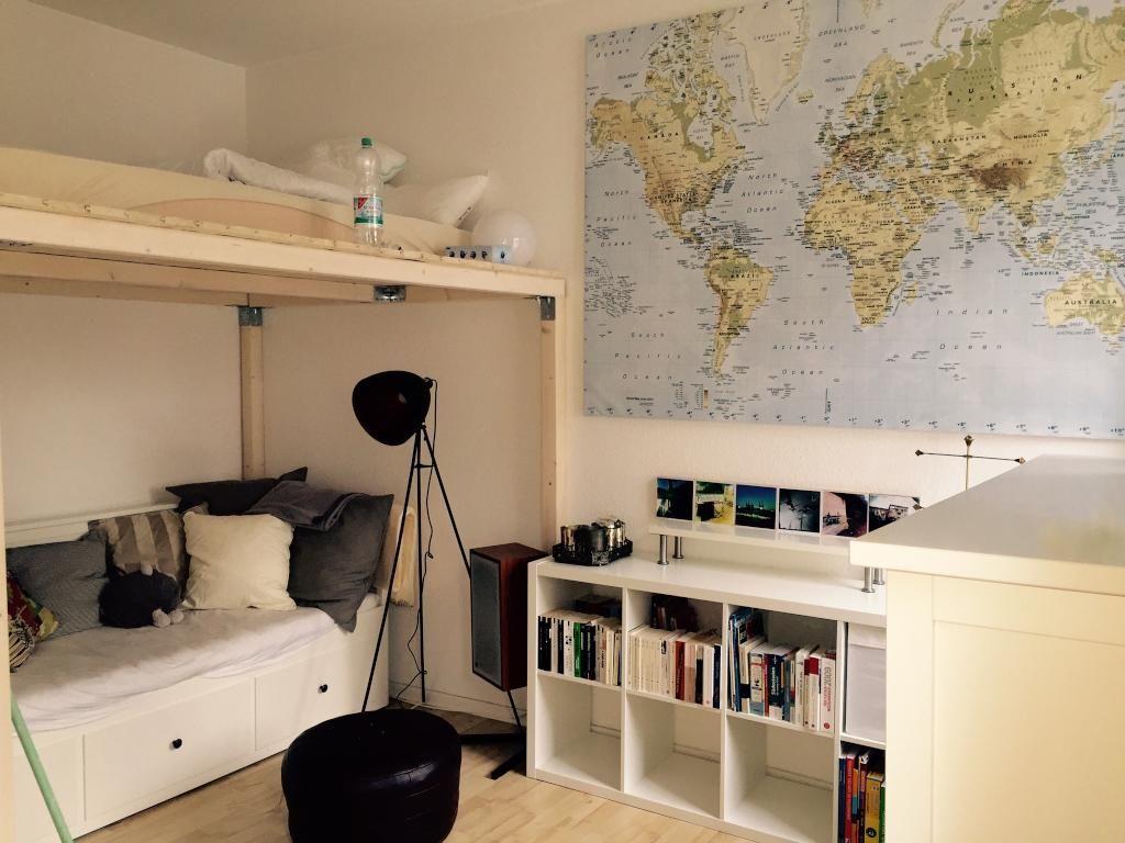 Schon Mobliertes Wg Zimmer Mit Wohnbereich Unter Dem Hochbett