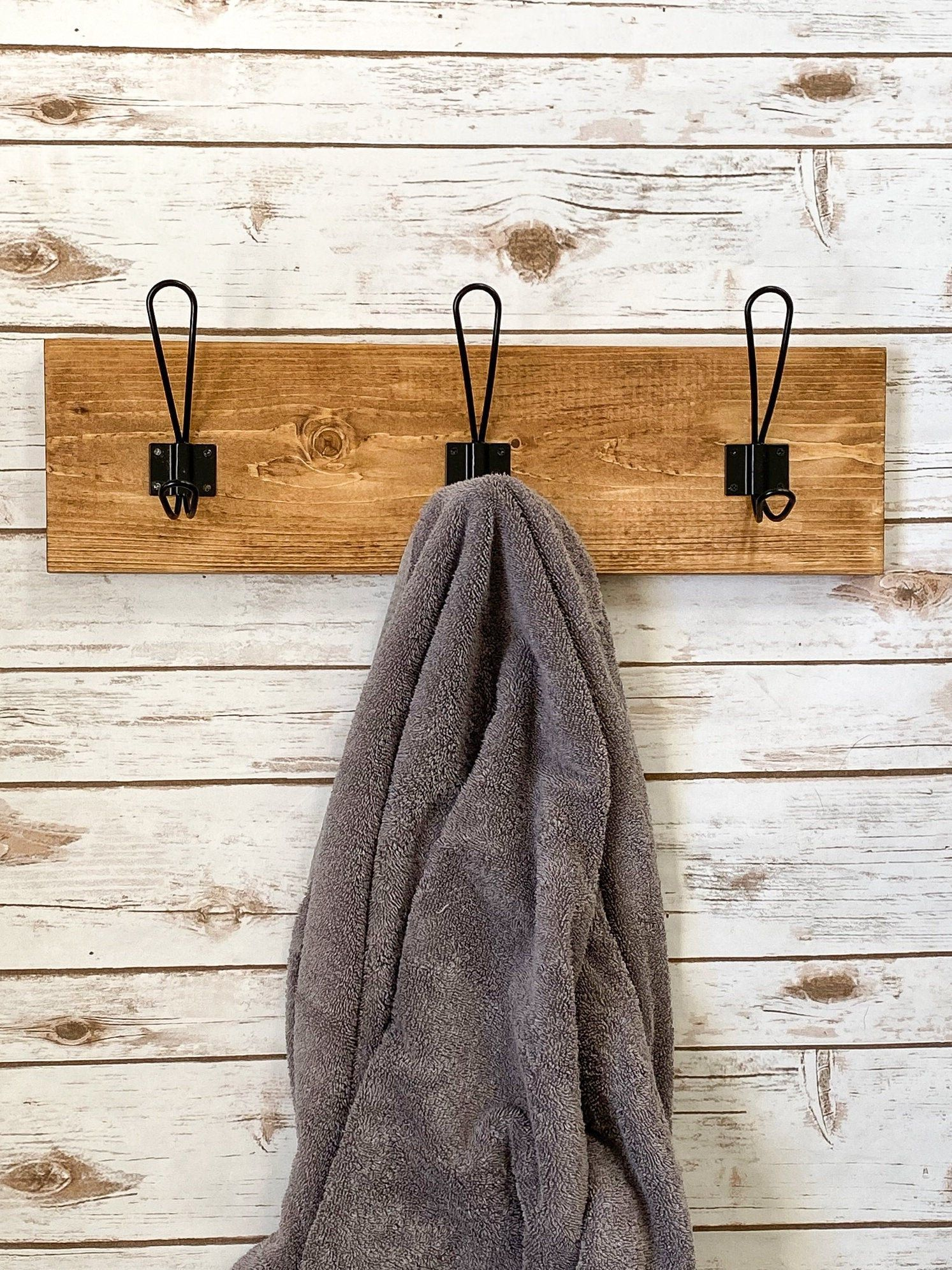 Farmhouse Towel Holder Entryway Hook Stocking Holder Towel Hooks