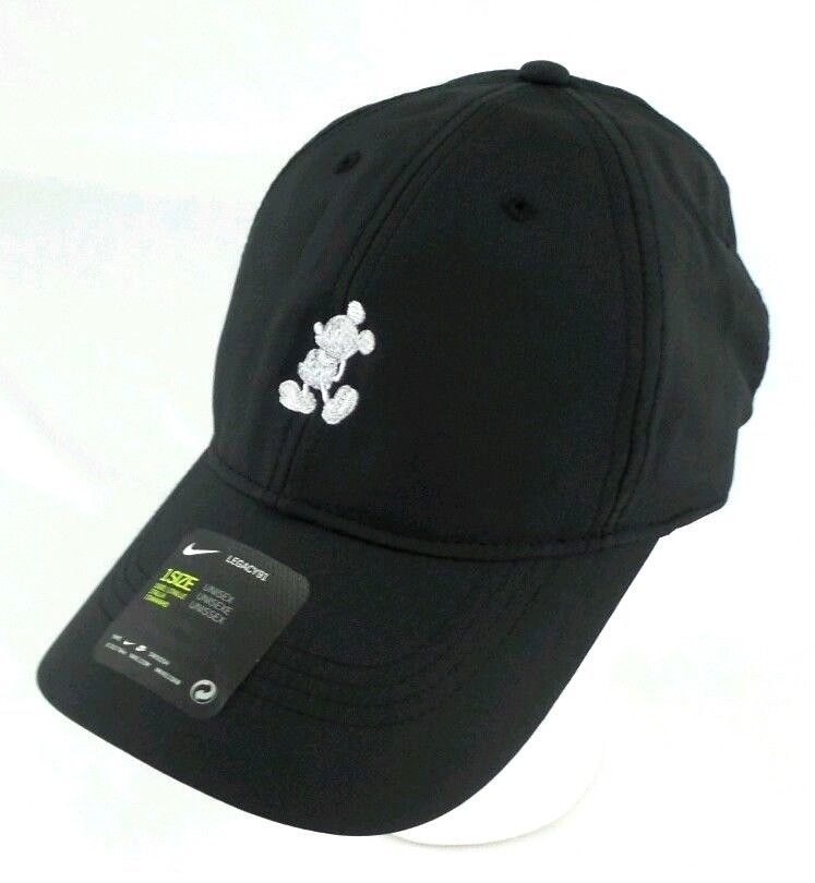 3c3cc48493591 Disney Parks Mickey Mouse Icon Character Nike Golf Cap Hat Legacy 91 UNISEX  BLK  NIKEDISNEYPARKSAUTHENTIC