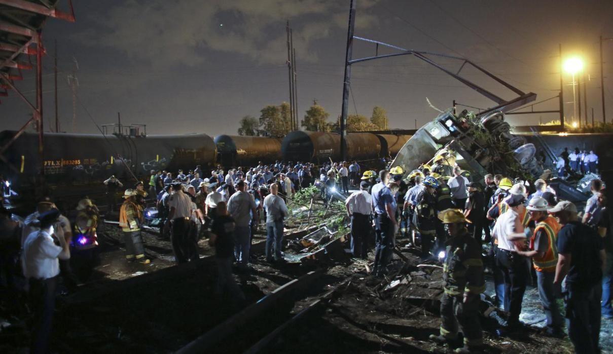 Deadly Amtrak train derailment in Philadelphia Train